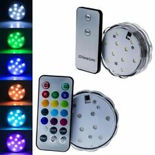 10 LED Submersible Waterproof Wedding Party Vase Base Light +Remote Multi Color