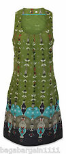 NEW EX WHITE STUFF GREEN BLUE IVORY GREY COTTON FLORAL SUMMER TUNIC DRESS TOP