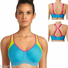 Freya Active AA4892 Atomic Blue Moulded Underwired Sports Bra 30 to 40 DD-H Cups