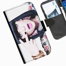Jessie J Leather wallet mobile phone Skin case Personalised iPhone