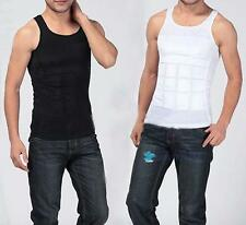 HOT Men's Slim Body Shaper Belly Fatty Underwear Vest Shirt Corset Compression