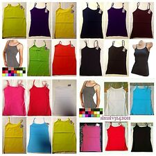 "LOT OF 6 WOMEN'S MOPAS ADJUSTABLE SPAGHETTI STRAP CAMISOLE TANK TOPS "" S, M, L"""