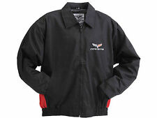 Corvette Jacket C6 Embroidered Emblem Red and Black Twill