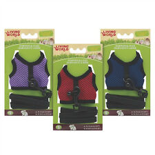Living World HARNESS/LEAD SET Small Animals  Sm, Med, Lrg  Red, Navy, Purple