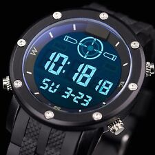 INFANTRY Mens Sport Military Army Quartz Date Day Digital Wrist Watch Waterproof