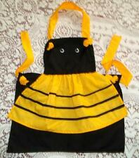 Children's Bumble Bee Kitchen Apron For Little Girls In 3 Sizes Mandil