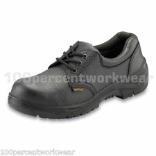 Worktough 201SM Safety Work Shoes Black Leather Steel Toe Cap Sole Sizes UK 2-14