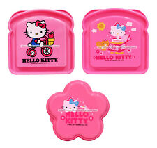 HELLO KITTY Reusable Container SANDWICH/SNACK/FOOD Pink Plastic *YOU CHOOSE*