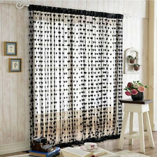 Lovely Heart Line Window Room Divider Curtain Valance Tassel String Door Curtain