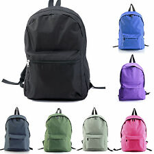 Canvas Plain Womens Mens Backpacks Book Travel Shop School Backpack Laptop Bags