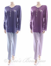 Waites Ladies Blue or Purple Cotton Check Pyjamas PJ's Size Small Large S L