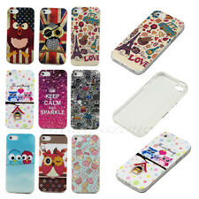 New Fashion Cartoon Pattern Rubber TPU Back Protect Soft Skin Case Cover