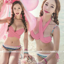 HOT SUMMER Sexy Women Bandage Bikini Set Push-up Padded Bra Swimsuit Swimwear