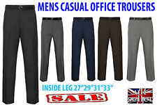NEW MENS FORMAL CASUAL OFFICE WORK BUSINESS SMART TROUSERS PANTS BIG SIZES BELT