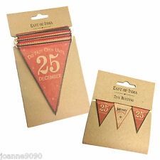 EAST OF INDIA CHRISTMAS PAPER BUNTING VINTAGE XMAS RETRO HANGING DECORATION