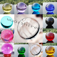 Free Ship~Hot~ Magic Asian Ball Natural Crystal Sphere 10 Colors 40-60mm + Stand