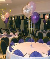 30th Birthday Party Helium Balloons - 10 Table Decorations - Many Colours