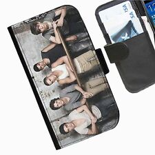 The Wanted Leather wallet mobile phone Skin case Personalised I Phone