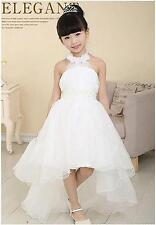 Jeansian Girl Pageant Wedding Party Princess Bridesmaid Dress Kid White CH015