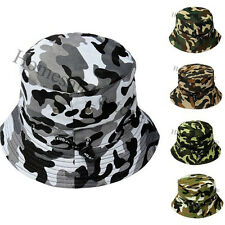 Men Women Summer Bucket Camo Army Sun Hat Cap Safari Fishing Camping Hiking