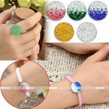 1piece Chunk Snap On Resin Crystal Paved Charm Metal Button Fit Style Bracelet