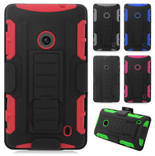 Nokia Lumia 520 GoPhone COMBO Belt Clip Holster Case Cover Stand + Screen Guard