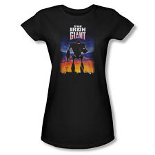 The Iron Giant Science Fiction Animated Movie Poster Juniors Sheer T-Shirt Tee