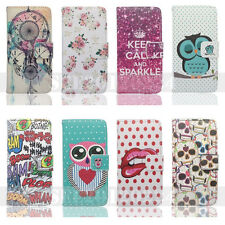 For iphone 4/4s 5/5s PU Leather Holder Wallet Flip Case Stand Card Pouch Cover