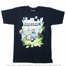 New Offical Jinx Minecraft Adventure with Steve Licensed T-shirt Navy Blue