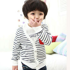 2014 Baby Boy Long Sleeve Striped knitted Sweater Outwear Cardigan Coat Clothes