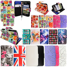 FOR SAMSUNG GALAXY ACE S5830 S5839i LEATHER BOOK WALLET FLIP CASE COVER + STYLUS