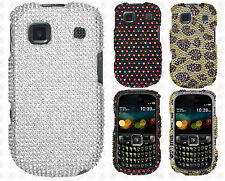 Cricket ZTE Altair Crystal Diamond BLING Hard Case Phone Cover + Screen Guard