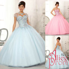Beaded Quinceanera/Party/Evening/Prom/Cocktail dress/Ballgown/Sz 6 8 10 12 14