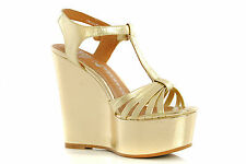 Womens Shoes JEFFREY CAMPBELL High Heels Strap SWANSONG Platform Wedges Sandals