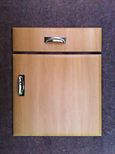 Chamfered Light Oak Kitchen Cupboard Doors fit Howdens B&Q Wickes Magnet MFI etc