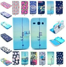 PU Leather Flip Wallet Case Pouch Cover For Samsung Galaxy CORE i8260 i8262 Duos