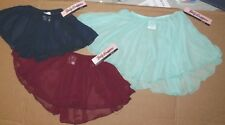 NWT Classic Pull up Chiffon Dance Ballet skirt 3 color choices Girls