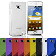 GRIP CLEAR SILICONE GEL CASE FITS SAMSUNG GALAXY S2 i9100 FREE SCREEN PROTECTOR