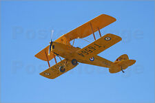 Poster / Leinwandbild De Havilland DH 82A Tiger Moth Biplane - David Wall