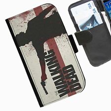 The Walking Dead Leather wallet phone personalised case for Sony Xperia Phone