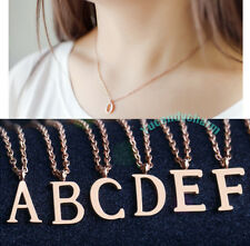 Personalized 18K Rose Gold Plated A TO Z Alphabet Letter 26 Initial Necklace SS