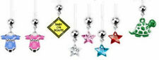 Pregnancy Belly Button Ring NEW Dangles on our Softest ULTRAFLEX Bars!