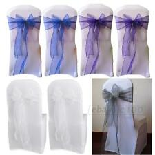 25x Organza Chair Cover Sashes Bow for Wedding Party Birthday Decor