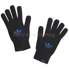 Mens Adidas Black Gloves Trefoil Originals Logo Cotton Medium Large New UK