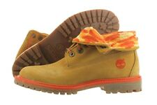 Timberland Authentic Roll Top Boot 8764R Wheat Leather Shoes Medium (B, M) Women