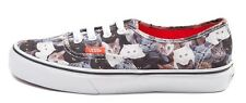 New VANS AUTHENTIC ASPCA Kitty Cat Men Women Skate Sneakers Shoes All Sizes RED