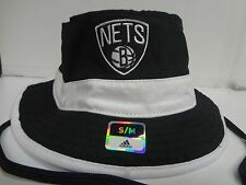 Brooklyn Nets Bucket Cap Adidas Stretch Fit Fitted Strings Hat NBA