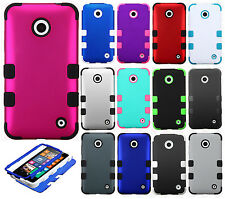 For Nokia Lumia 635 IMPACT TUFF HYBRID Protector Case Skin Phone Cover Accessory