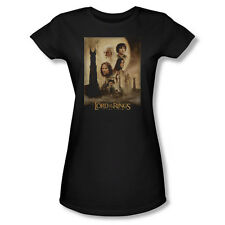 Lord of The Rings Two Towers - Juniors T-Shirt - Black LOR2000-JS