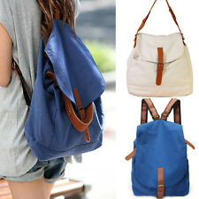 Women Fashion Vintage Bookbag Travel Rucksack School Bag Satchel Canvas Backpack
